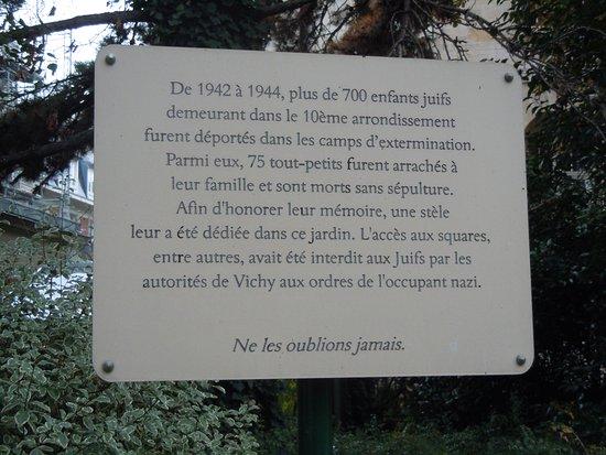 Stele Du Souvenir Picture Of Jardin Villemin Paris Tripadvisor