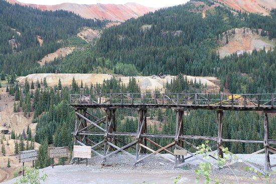 Silverton, CO: Mine Train Trestle at Idarado Mine District