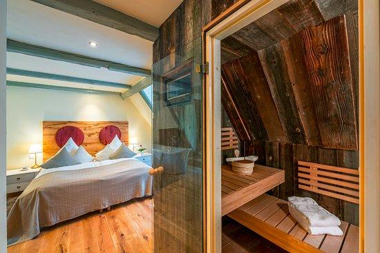 Goldenes Fass Meissen: SPA Suite superior mit Bio-Sauna, Whirlwanne, Dachterrasse