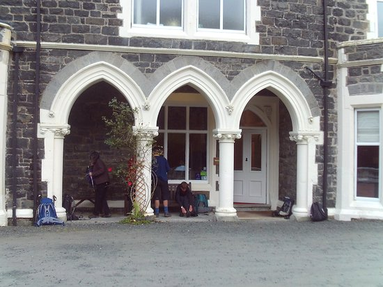 Brithdir, UK: Main entrance Dolserau Hall