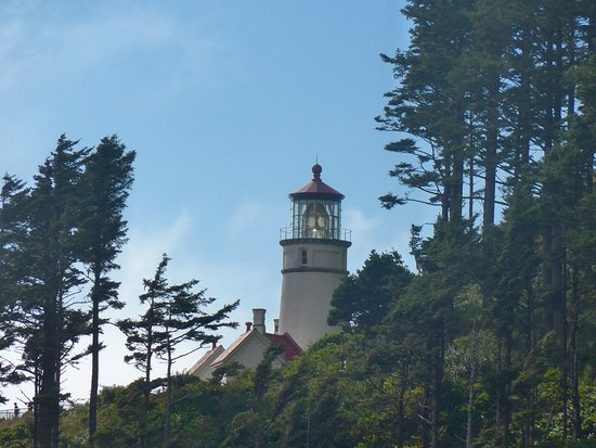Heceta Head Lighthouse Bed and Breakfast: Lighthouse View from the Inn