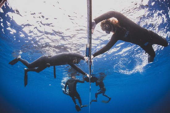 Paia, Hawaje: Our state of the art counterbalanced Freediving training rig