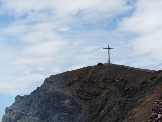 Mombacho Volcano : Cross put up to bless the volcano