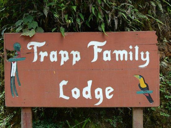 Trapp Family Lodge: siamo arrivati dopo km. di strada sterrata...