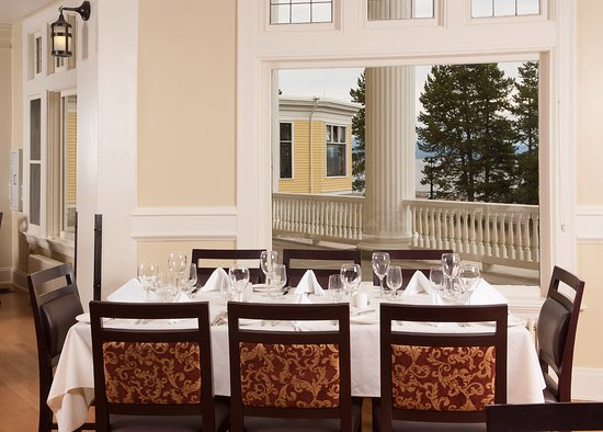 Lake hotel dining room