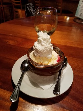 Staunton, VA: Cherry Cobbler with Ice cream topped with whipped cream!