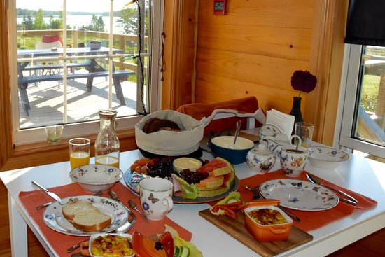 Saint-Louis-de-Kent, Kanada: Breakfast with a view