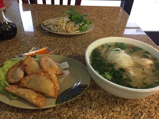 Fairview, Teksas: Pho Ga and fried dumplings. Delicious!