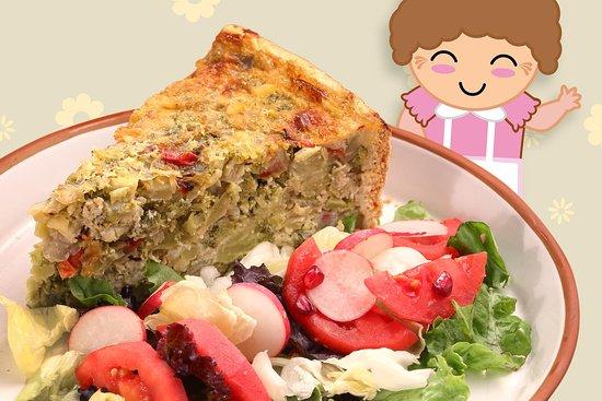 Patricia Valer Ugarte: Quiche de brócoli con ensalada