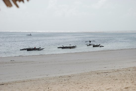 Dongwe Club: סירות דייגים בחוף מול המלון