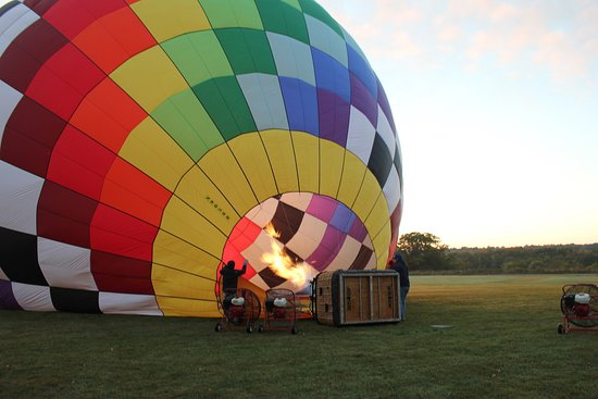 Above the Clouds: We loved the colorful balloon, custom-designed by our pilot, Chris.
