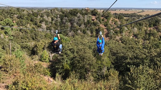 Cedar Creek, TX: Dual Zip Lining Guests