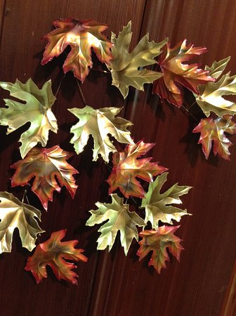 Miranda, CA: Maple Leaves from brass and copper