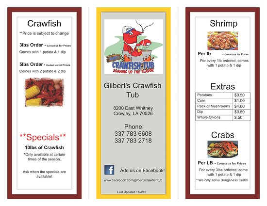 Crowley, LA: Check out our AWESOME menu!