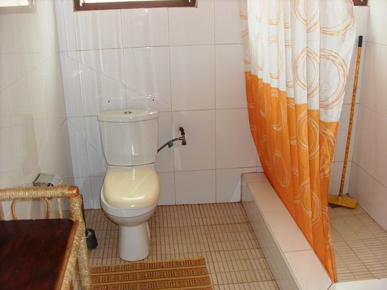African-Swiss Guest House Accra: Shower and Toilet African Room