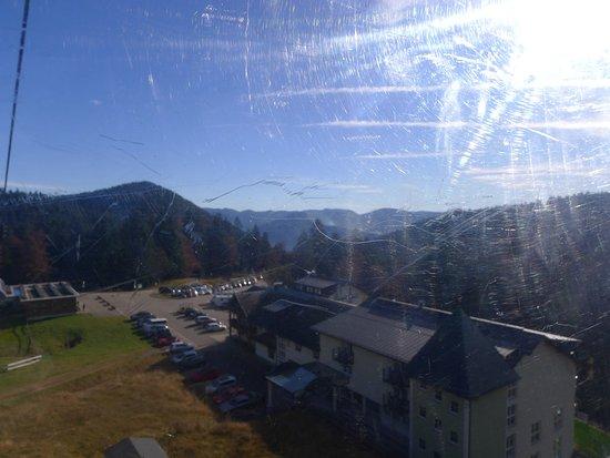 Aitern, Deutschland: vue de l'hotel depuis le téléphérique