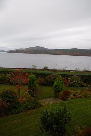 Strachur, UK: view of Loch and garden from bedroom
