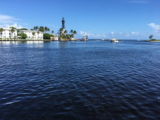 Hillsboro Beach, FL: Vista do parque com o lighthouse no fundo