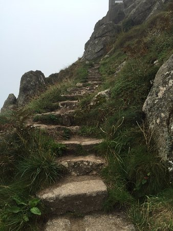 Minack Theatre: Not the best path to the theatre.