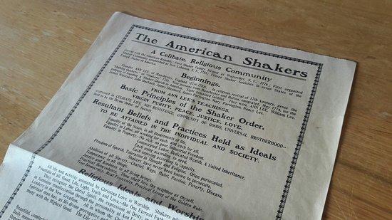 Hancock Shaker Village: Shaker document