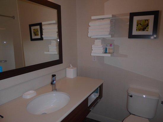 Hampton Inn Taos: Single Sink; Towels Plush