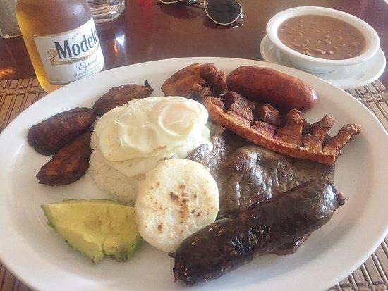 Sabor Latino Restaurant: Bandeja Paisa (with Morcilla) - Sabor Latino , Bradenton FL