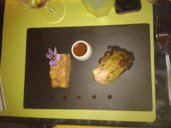 Le Boulou, Γαλλία: foie gras aux pommes et au caramel