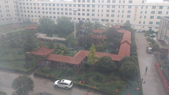 Xinmi, China: Garden view from the room window