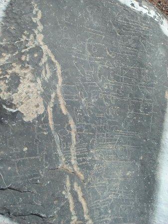 Wadi Bani Awf, Oman: des ecriture trais ansienne