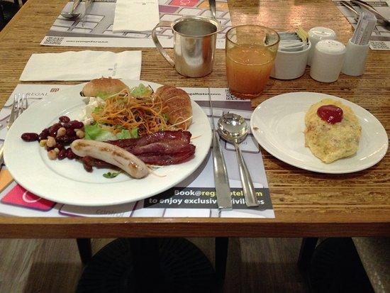 Regal Kowloon Hotel: 朝食のレベルをもう少し上げてほしい