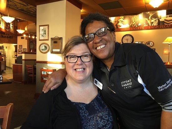 Corner Bakery Cafe: Our new DC friend Casandra. She's lovely.