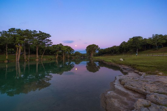 Wimberley, TX: View of our Blanco River Access at Dusk
