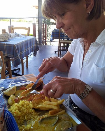 Lephalale, South Africa: ondanks de warmte heerlijk buiten gegeten op het terras.