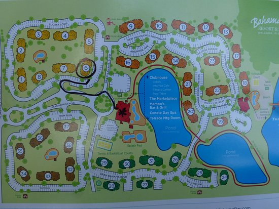bahama bay resort map The Red Building Is Reception Staff Drew Our Route To The bahama bay resort map