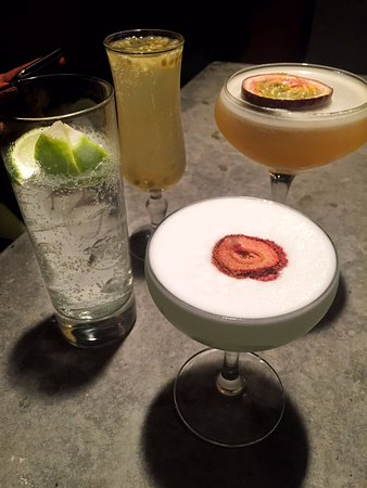 The Exchequer: Aviator Gin, Bellini and True Temperance Whiskey