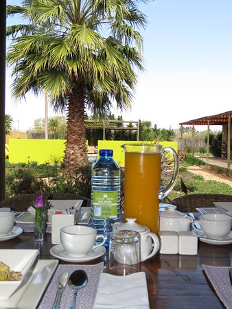 Kirkwood, South Africa: Breakfast with a view to the garden