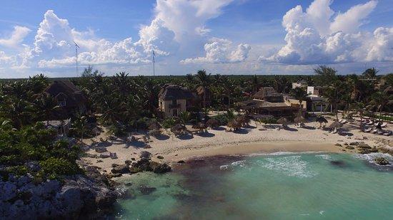 Aerial view Hotel Piedra Escondida