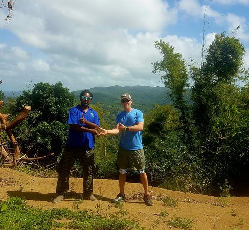 Joe Cool Taxi & Tours Jamaica: Joe Cool the owner and myself in the countryside.
