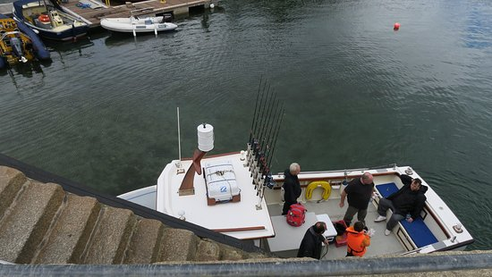 St Mawes, UK: James arrives with his boat