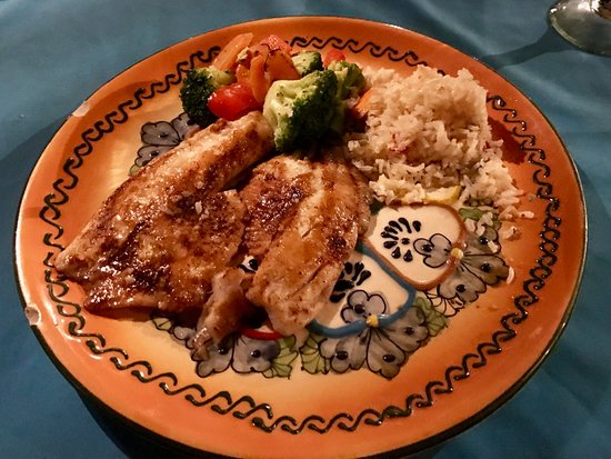 Sharky's Mesquite Grill: Garlic Red Snapper finished on the mesquite grill