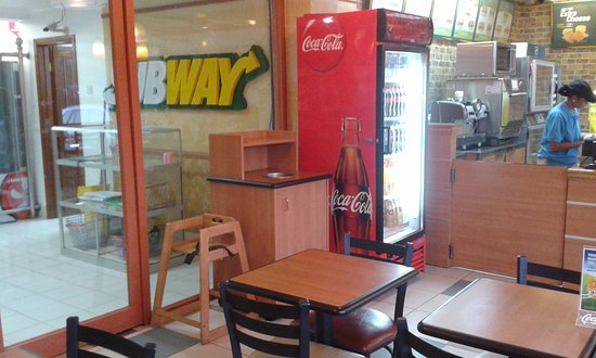 Subway at Shoppers Plaza Masaki: Place to sit and have ...