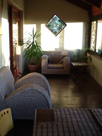 Northern Cape, Sudafrica: Glassed-in deck of chalet