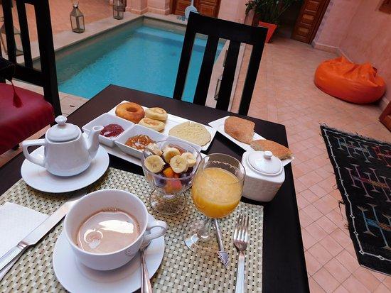 Riad Mazaya: petit dejeuner