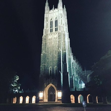 Walking in the morning at Duke Chapel is always re fortable