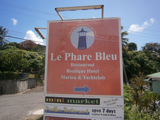 Petite Calivigny, Grenada: Skylten innan man kommer fram till havsviken.