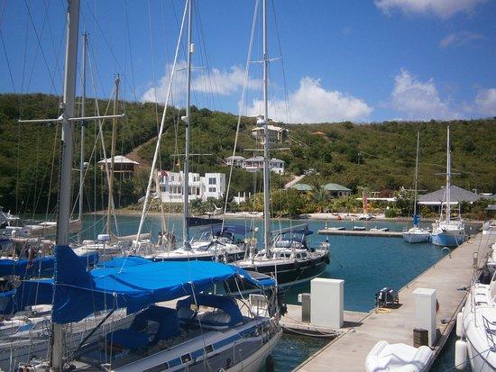 Petite Calivigny, Grenada: Hotell och restaurangområdet.