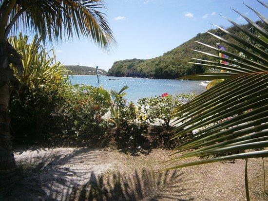 Petite Calivigny, Grenada: Havsviken nedanför hotellet.