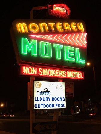 Monterey Motel: Neat Retro Neon Sign