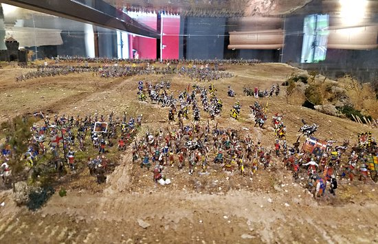 Azincourt, France: Diorama of the battle