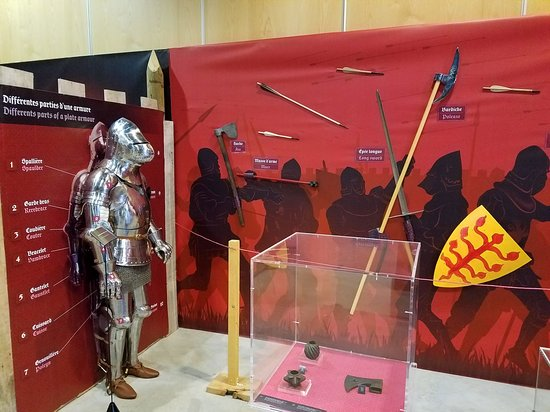 Azincourt, France: Weapons and armor exhibit